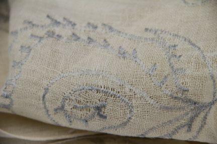 Écharpe en lin blanc pas cher