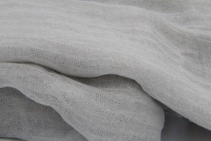 Écharpe et foulard en lin blanc cassé, beige et écru pas cher