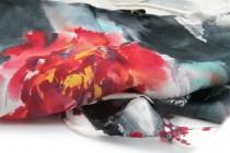 Foulard gris argenté et rose