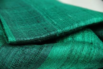 Foulard et écharpe vert pomme anis et émeraude en soie
