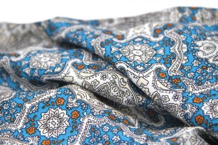 Echarpe en coton bleu cobalt, roi et marine homme