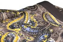 Foulard soie marron pour homme vintage et rétro