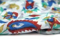 Foulard en soie artisanal d'artisanat indien d'Inde