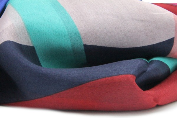 Foulard en soie Art déco