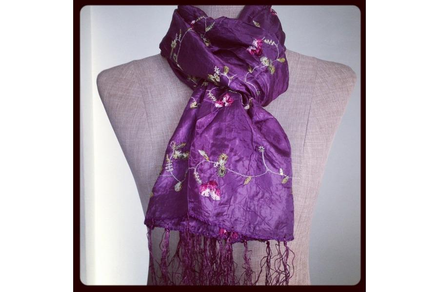 66308e0d5db écharpe violette femme - balbuzard-migration.fr