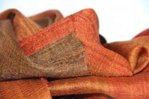 Foulard en soie grand et épais