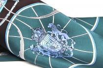 Foulard en soie bleu canard