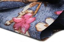 Foulard en tissus de soie japonais fleuri motifs fleurs de cerisier du Japon