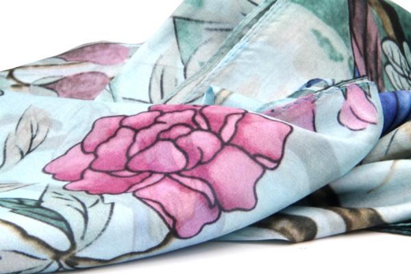 Chic bohemian silk scarf