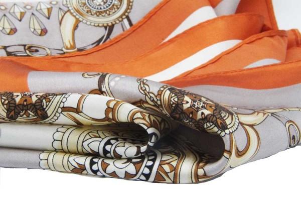 Carré en soie Taj mahal