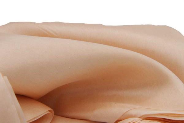 Étole en soie nude
