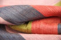 Foulard en soie rayé