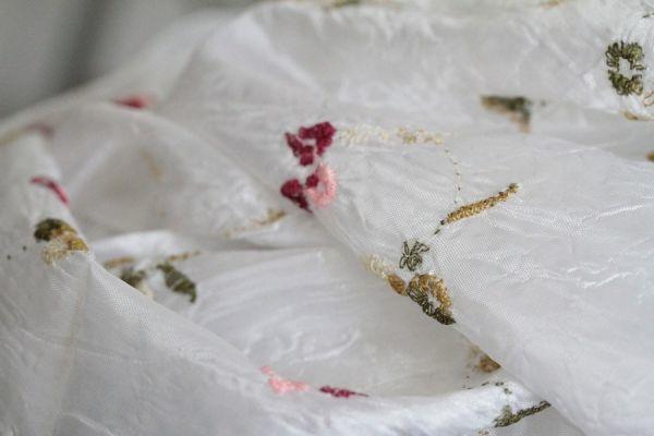 Foulard blanc Mariée