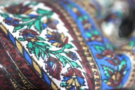 Foulard indien soie
