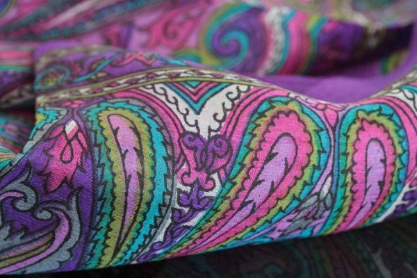 Silk scarf Bénares