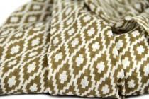 Echarpe en coton beige camel