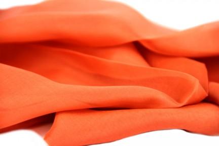 Etole en mousseline de soie corail