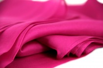 Etole en soie rose fushia