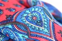 Foulard carré soie rouge