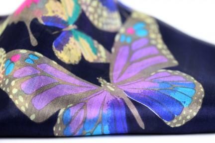 Grand foulard en soie épais