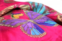 Foulard en soie femme rose