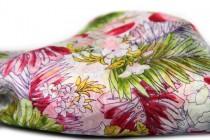 Foulard imprimé fleur floral en soie