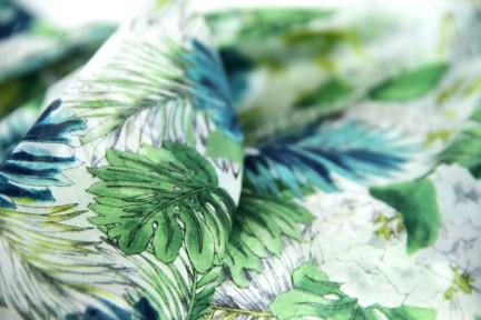Foulard avec motifs de fleurs exotiques
