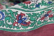 Foulard en soie fleuri