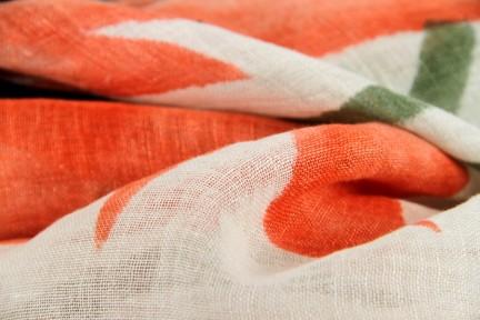 Echarpe en lin et coton
