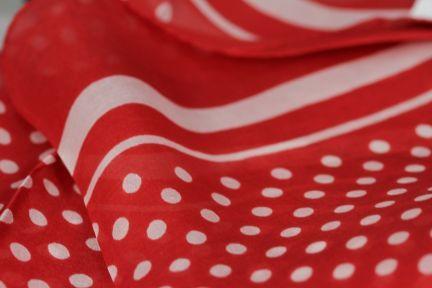Foulard pois rouge et blanc