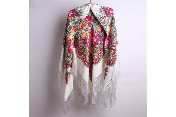 Châle laine et coton Kovalevskaïa