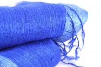 Foulard bleu canard et roi