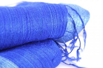 Foulard et écharpe en soie sauvage