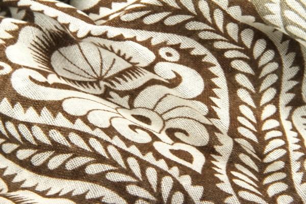 Paisley linen scarf