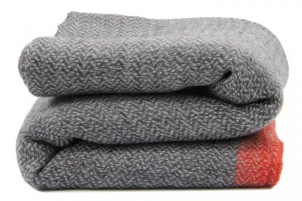 Écharpe homme en laine style cachemire