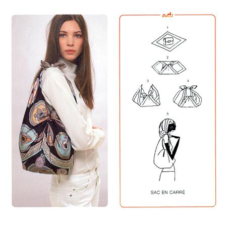 utiliser un foulard comme d'un sac