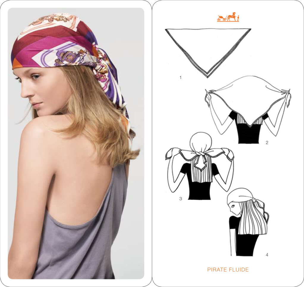 comment mettre  nouer  porter un foulard pour cheveux courts et longs