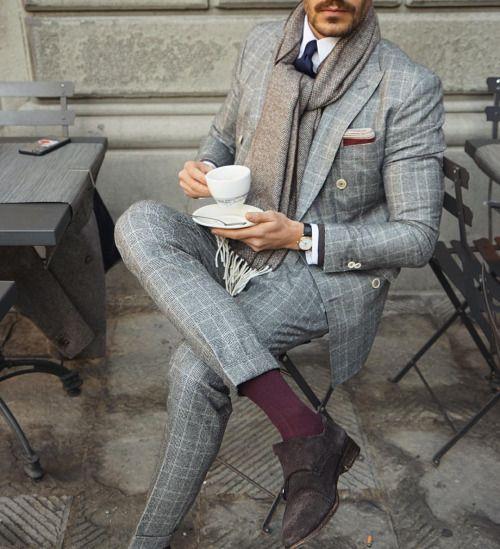 foulard en cravate homme