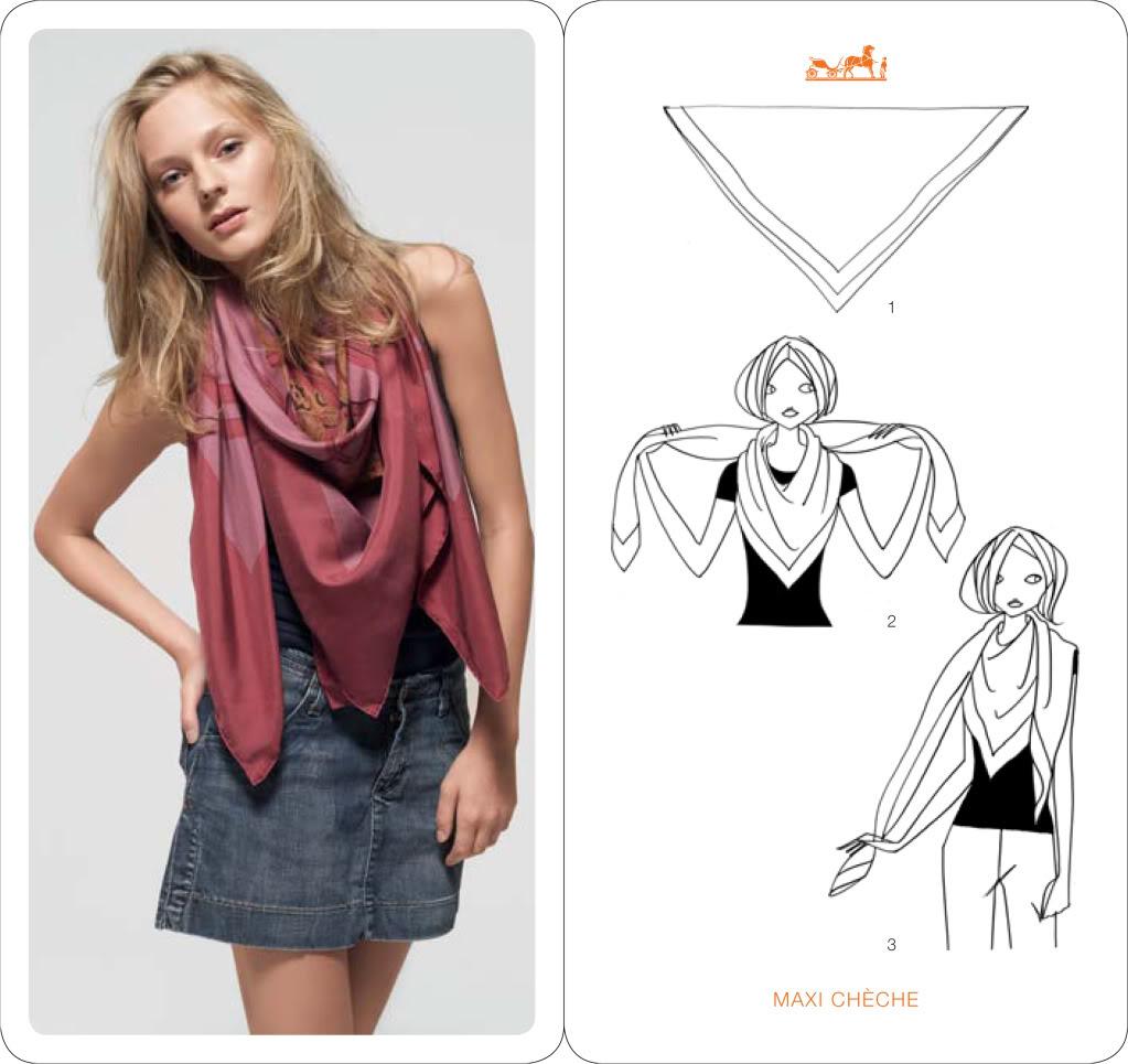 Comment, mettre, nouer, porter foulard carré   ad746a50a08