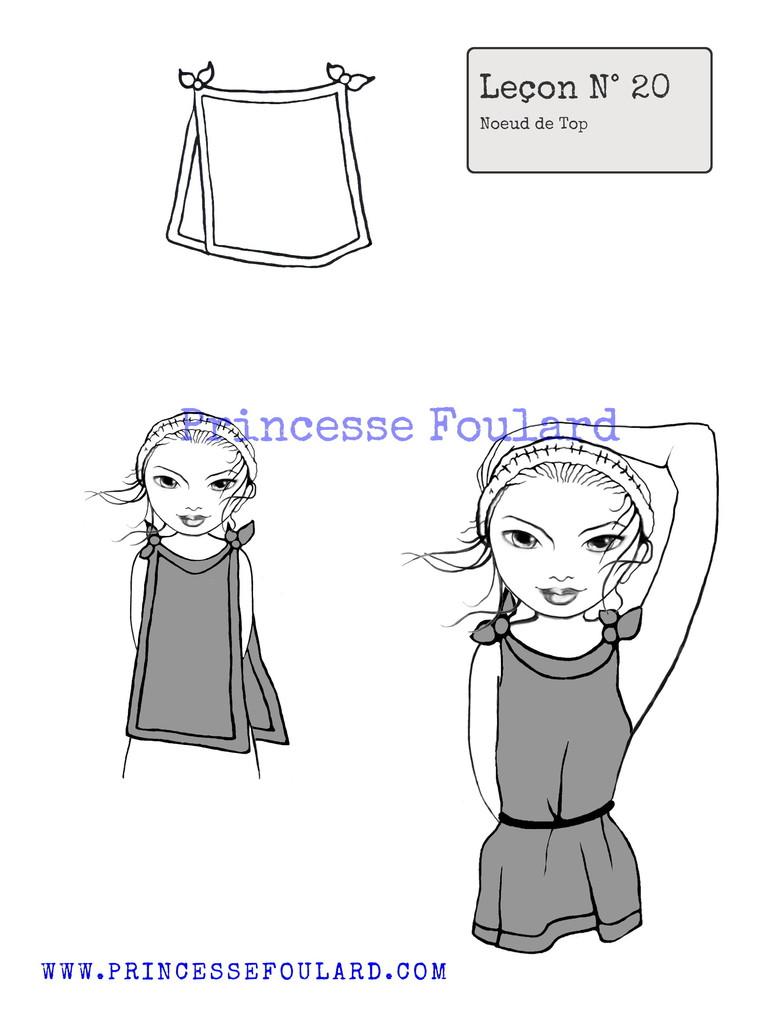 "Tuto Noeud de Foulard de Boheme par ""Princesse Foulard"""