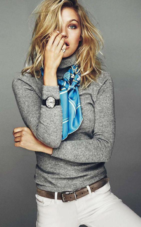 foulard echarpe bleu