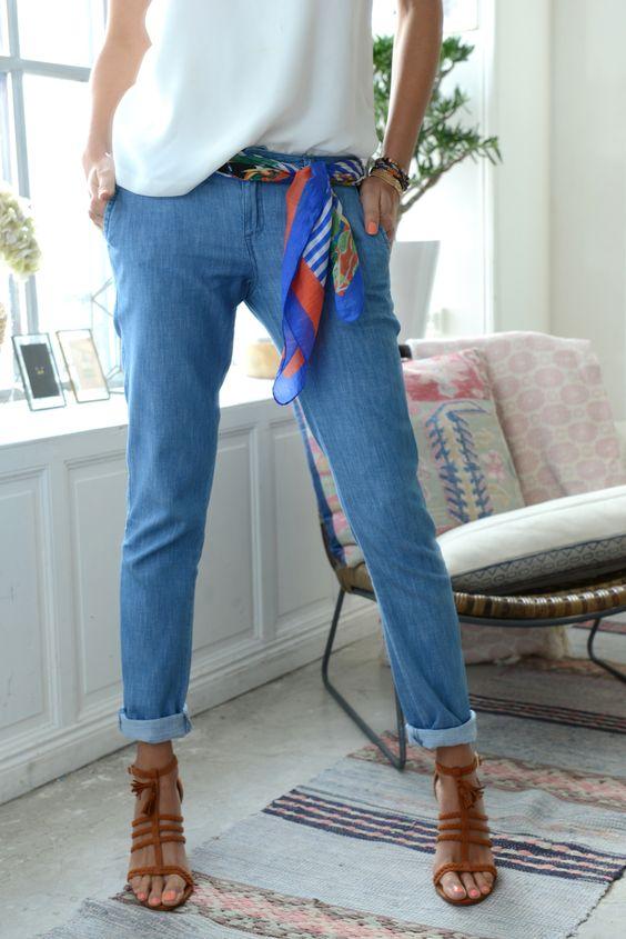 amazon style classique de 2019 remise spéciale Comment porter, nouer son foulard en ceinture ?