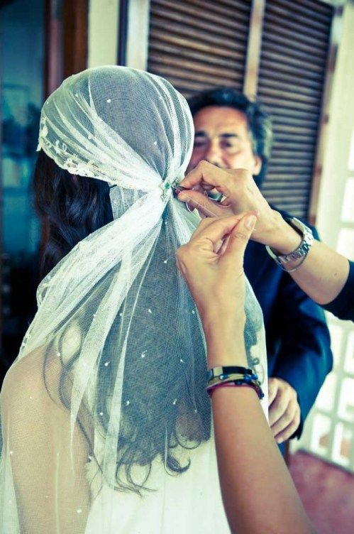 foulard mariage cheveux