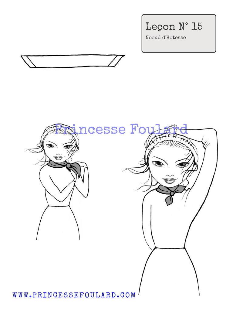 Noeud de foulard hôtesse de l'air Air France