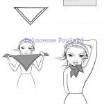 Comment faire noeud de foulard carré pour homme et femme ?