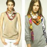 Foulard et écharpe couleurs tendance mode Automne hiver 2015