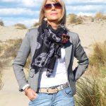 Porter un foulard bandana tête de mort mexicaine pour faire de la moto