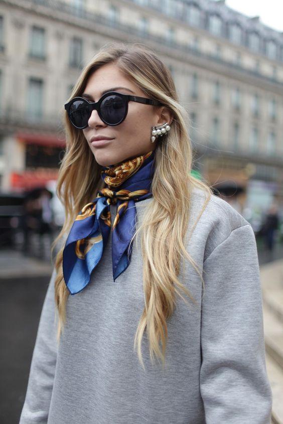 Comment nouer, mettre et porter un foulard autour du cou   c832596735e