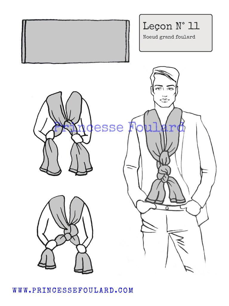Nouer un grand foulard pour homme
