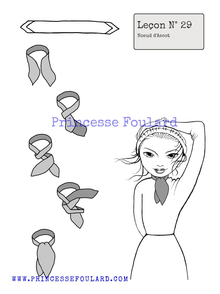 Comment faire le noeud d'ascot pour femme